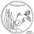 Рыбки раскраска для малышей