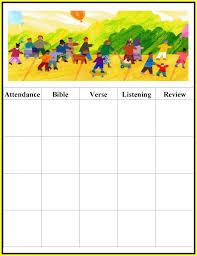 sunday school attendance chart template sunday school attendance chart template tk