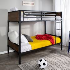 walker edison furniture company rustic twin over twin wood bunk bed hdtotrmwm the home depot