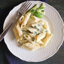 zucchini cream cheese pasta