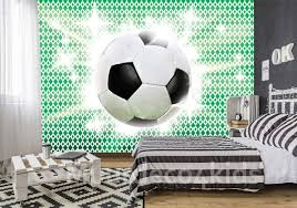 Voetbal Behang Groen Muurdeco4kids