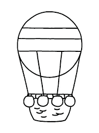 hot air balloon coloring page pages for preschool free printable