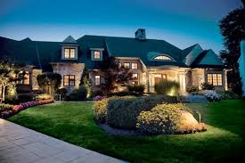 images of outdoor lighting. Colorful Landscaping Is Illuminated By Outdoor Lighting Images Of