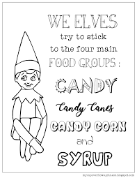 The official home of santa's scout elves, featuring products, ideas, games and more. My Cup Overflows Elf On The Shelf Coloring Page