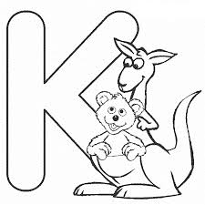 Learn alphabet y for yak tree coloring and drawing learn colors for kids | top toy art. Letter K Kangaroo Coloring Pages Alphabet Bestappsforkids Com