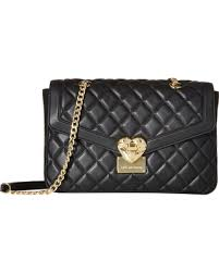 Winter Shopping Special: LOVE Moschino - Quilted Shoulder Bag with ... & LOVE Moschino - Quilted Shoulder Bag with Chain (Black) Shoulder Handbags Adamdwight.com