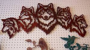 wolf metal sculpture  on wall sculpture art metal with wall art metal artisan sculptures wood magic