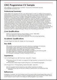 Job Skills For Cv Cnc Programmer Cv Sample Myperfectcv