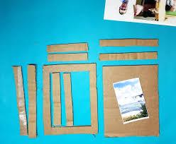 diy cardboard frame make a fun shadow box frame to give as a last minute photo