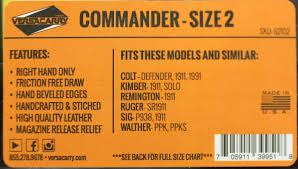 Versacarry Commander Owb W Flx Vent Mag Pch Rh Sz 2 Dist Bn 62102