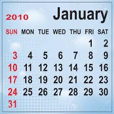 2010 Calendar January Calendar Of January 2010 On Abstract Background Week Begins
