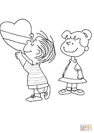 Charlie Brown Valentine Coloring Page Free