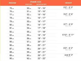 Height And Inseam Chart
