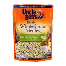 uncle ben s ready whole grain medley quinoa brown rice with garlic