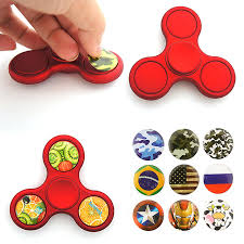 diy fidget spinner hand spinner fidget toys with stickers 2017 new creative cool top diy tri