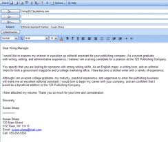 Cover Letter In Body Of Email Or Attached Milviamaglione Com