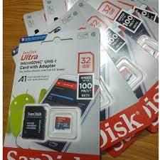 Thẻ Nhớ MicroSDHC SanDisk Ultra 32GB - Tặng kèm bao thẻ