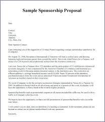 Sample Letter For Event Proposal Letter For Sponsorship For Event Free Sponsorship Letter Template