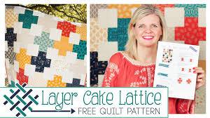 Layer Cake Lattice Quilt: Easy Quilting Tutorial with Kimberly ... & Layer Cake Lattice Quilt: Easy Quilting Tutorial with Kimberly Jolly of Fat  Quarter Shop Adamdwight.com