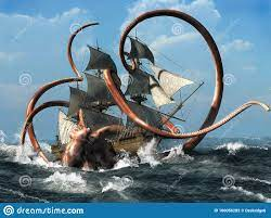 Kraken stock illustration. Illustration ...