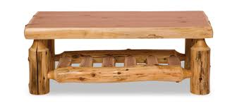 Summer residents and owners of private homes are well aware of how great to enjoy the birds singing, crickets. White Cedar Log Coffee Table Hom Furniture