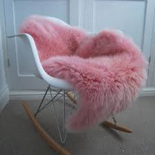 pink british sheepskin
