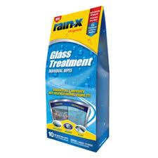 rain x glass cleaner treatment wipes 10pk