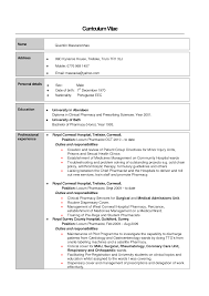 Ideas Of Pharmacist Resume Format Resume Templates About Pediatric