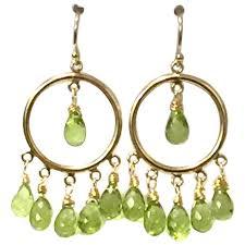 briolette peridot chandelier earring on 14k gold filled