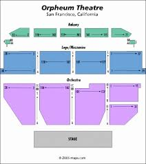 Bright Orpheum Theater San Francisco Seating Chart Free Baby