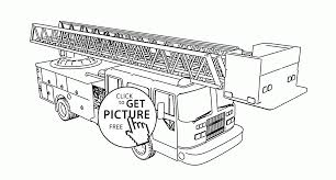 Small Picture Tiller Fire Truck coloring page for kids transportation coloring