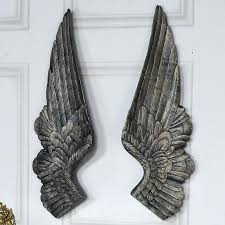 gold angel wings wall decor pair of large antique gold angel wings wall decoration