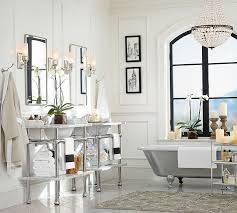 extraordinary pottery barn bathroom lights mia faceted crystal chandelier o pottery barn bathroom lighting r59