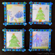 Christmas Photo Frames For Kids Homemade Grandparent Christmas Gift From Kids