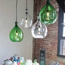 green pendant lighting. Oversized Glass Pendant Lamp Green Lighting E