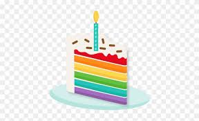 birthday cake slice clipart. Exellent Birthday Rainbow Piece Of Cake Svg Scrapbook Cut File Cute Clipart   Slice With Birthday C