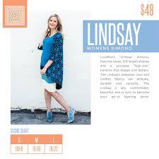 Womens Lularoe Lindsay Kimono Layering Piece Size Chart