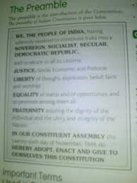 Make A Colourful Chart Of The Preamble Of The Indian