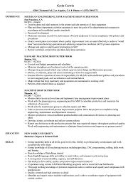 Machine Shop Supervisor Resume Samples | Velvet Jobs