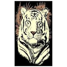 white tiger head area rug from donnieann