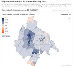 new brookings interactive shows the distance between people and nearby jobs1