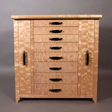 Maple Storage Cabinet Quilted Maple Jewelry Cabinet With Necklace Storage