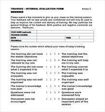 Course Evaluation Templates Sample Course Evaluation Forms ...