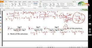 college algebra math 102 lecture 2 log and exp equations