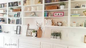 Bookshelves Living Room Classy The Right Paint For Cabinets And Bookcases DIY Beautify