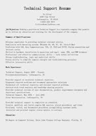 Technical Resume Examples Technical Support Resume Examples