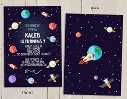 Space Party Invitation Planet Birthday Invitation Outer Space Theme Birthday