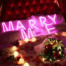 Christmas Light Proposal Light Up Letters Lights And Symbols Customizable For