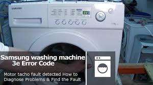 How Big Is A Washing Machine Samsung Washing Machine 3e Error Code Not Spinning Or Turning