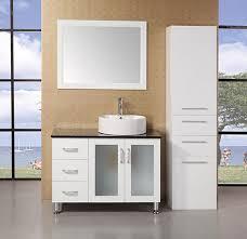 design element malibu single 40 inch modern bathroom vanity set white